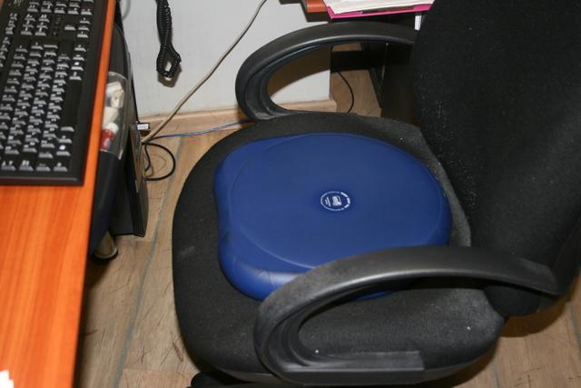 אימון כושר אישי - כרית ישיבה על כסא משרד